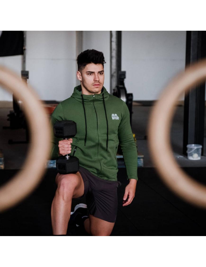 Sudadera Deportiva Hombre para CrossFit Verde | Mr.Wod